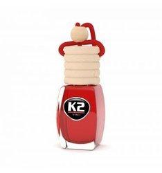 K2  Zapach samochodowy 8ml CHERRY wiśnia stopniowa aplikacja Zawieszka