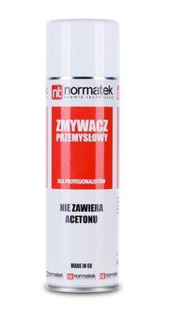 NORMATEK Zmywacz PRZEMYSŁOWY BEZ ACETONU 500ml spray